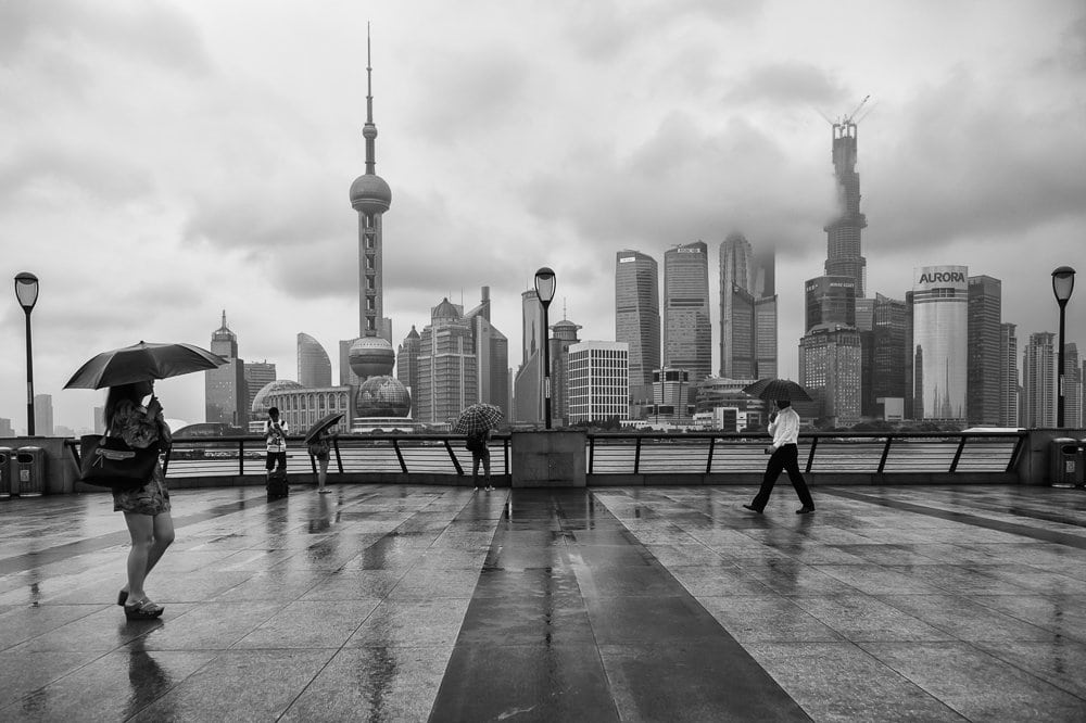 Promenading - the Bund, Shanghai